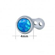 Накрутка на микродермал с голубым опалом