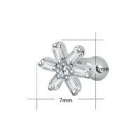 Накрутка на микродермал Цветок с белыми камнями