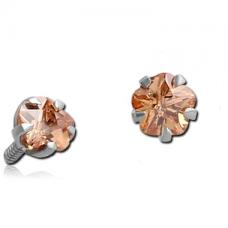 Накрутка на микродермал зажатый кристалл в форме цветка