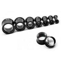 Тоннели металлические черные с тонкими бортами раскручивающиеся