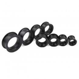 Туннели черные силиконовые с тонкими бортами