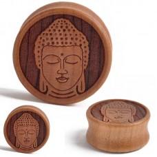 Деревянные плаги с Буддой