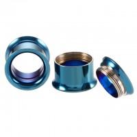 Тоннели синие металлические раскручивающиеся с тонкими бортами