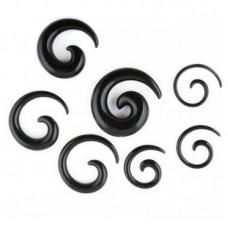 Акриловая черная спираль