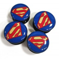 Акриловые плаги с изображением лого Супермен