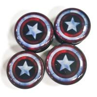 Акриловые плаги щит Капитана Америки