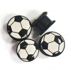 Акриловые плаги Футбольный мяч