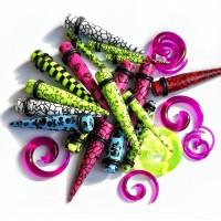 Акриловая цветная спираль