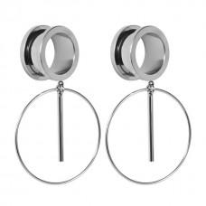Тоннели металлические серебристые с кольцами
