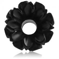 Деревянный тоннель Цветок черный