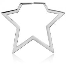 Серьги звезды для тоннелей пара