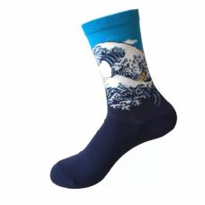 Носки Большая волна в Канагаве Кацусика Хокусай