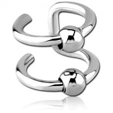 Кольцо обманка двойное