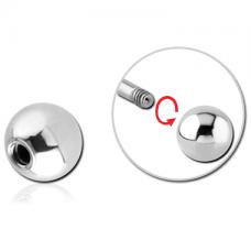Накрутка шарик металлический серебристый 1,2мм