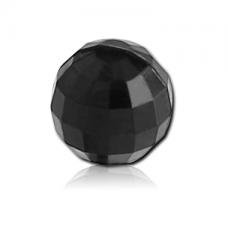Акриловый черный граненый шарик 1,6мм