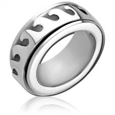 Стальное кольцо крутящееся с огнем