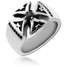 Стальной перстень Железный крест