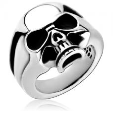 Кольцо с черепом из стали