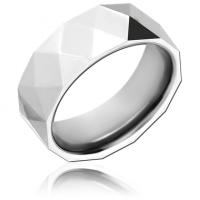 Стальное кольцо граненое