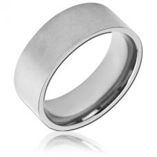 Стальное гладкое матовое кольцо