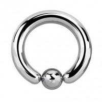 Сережка хард серебристый кольцо толстое 2,5мм с шариком