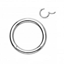 Кольцо сегментное с застежкой серебристое 1,2мм