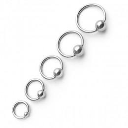 Кольцо серебристое 1,2мм с шариком 3мм