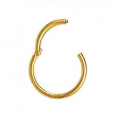 Кольцо сегментное с застежкой золотистое 1,2 мм