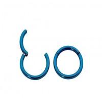 Кольцо сегментное с застежкой синее 1,2 мм