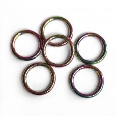 Сережка радужное кольцо сегментное с застежкой 1,6 мм для пирсинга