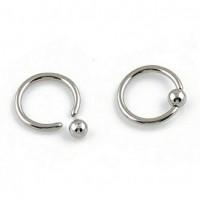 Сережка кольцо титановое 1,6мм с шариком 4мм