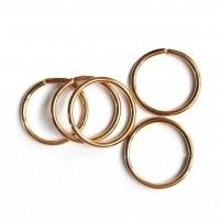 Сережка кольцо для пирсинга без застежки золотистое 0,8 мм