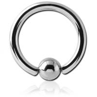 Сережка стальное пирсинг кольцо 1мм с шариком 3мм