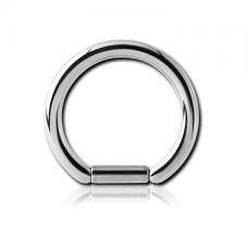 Пирсинг серьга скошенное кольцо с сегментом 1,2мм