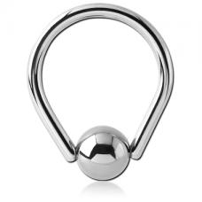 Серебристое кольцо с шариком Капля