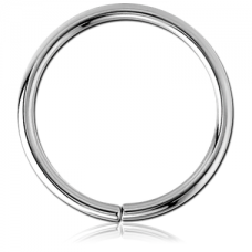 Сережка кольцо титановое без застежки