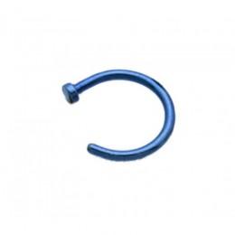 Полукольцо для носа синее 1мм