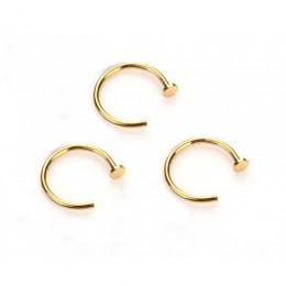 Пирсинг сережка полукольцо для носа золотистое 0,8 мм