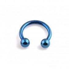 Подкова синяя с шарикам 16G (1,2мм)