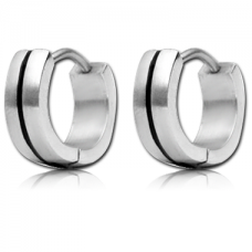 Кольцо серебристое с черной полоской