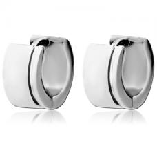 Кольцо серебристое широкое с полоской