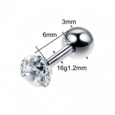 Штанга короткая 1,2 мм с камнем