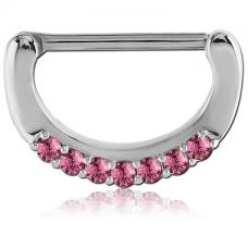Кликер для сосков с розовыми камнями